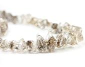 Herkimer Diamond Crystal Beads 4 Double Terminated Herkimer Diamond Clear Black Semi Precious Gemstones