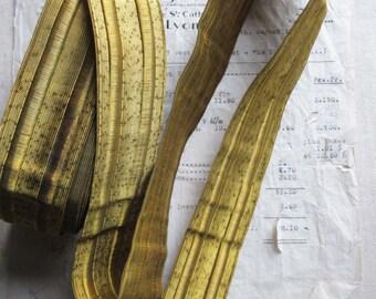 """3 yds SPECIAL PRICE Antique/Vintage French Dark Gold Wire Metallic Trim 1.5"""""""