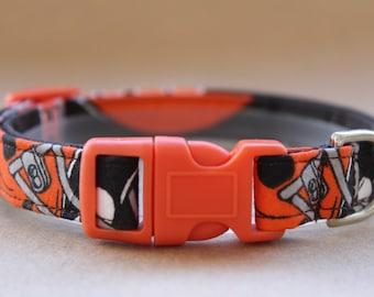 Handmade Cotton Dog Collar Cleveland Browns