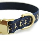 Personalized Dog Collar, Sailor Dog Collar, other colors available