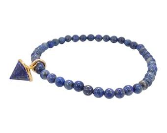 Lapis Stretch bracelet, Lapis Energy Bracelet, Bracelet with Lapis Charm, #6469