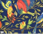 Valencia - Bird Kiss Blue with Metallic Accents by Laura Gunn from Michael Miller