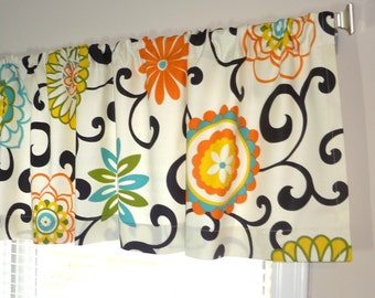 Curtains Topper Window Treatment Waverly Pom Pom Flower Curtain Panels Choose Size