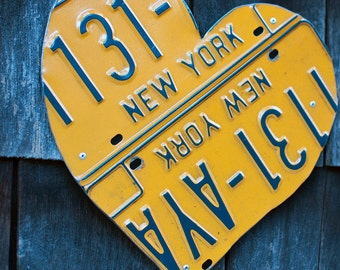 New York License Plate Heart