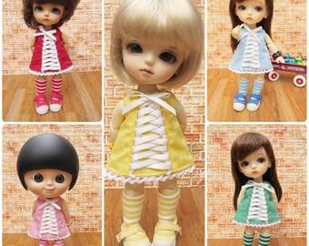 Lati yellow outfit / Mui chan outfit : Sweet Ribbon dress