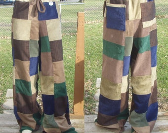 Patchwork Corduroy  Pants Made for you Custom