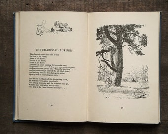 Vintage Winnie the Pooh book illustrated by E. H. Shepard Now We Are Six by A. A. Milne