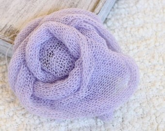 purple knit wrap,lavender knitted stretch wrap