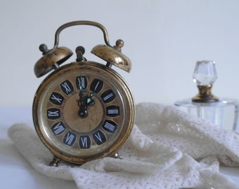 Vintage Golden Ormolu Clock by Blessing of West Germany (not working)