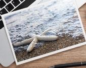 Starfish Blank Photo Notecard, Seashell Card, Starfish Card, Blank Card, Beach Photo Card, Thinking of You Card, Photo Greeting Card