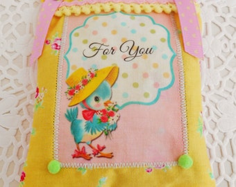 Retro Inspired Lavender Sachet/Home Decor/Easter/Mother's Day