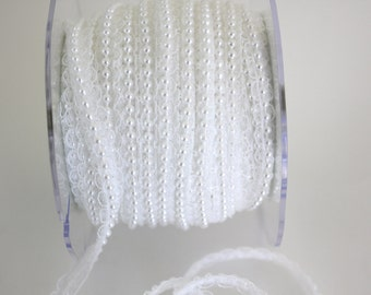 "5/8"" Beaded Lace Trim - White"