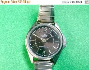 Croton women's watch  Womens Wrist Watch charcoal dial runs great!