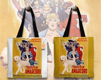 Lagotto Romagnolo Art Tote Bag - Amarcord Movie Poster NEW Collection by Nobility Dogs