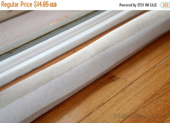 Sale Door Snake Cold Air Draft Stopper Beige Stripe