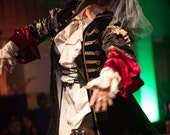 Pirate coat Runway model used Ready to ship Steampunk Victorian Edwardian Labyrinth Size M