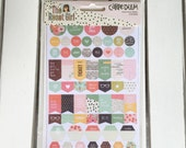 Carpe Diem- The Reset Girl Planner Basics Stickers (8- 4X6 shts) by Simple Stories, Snap product, A5/mini planner, scrapbooks, card making