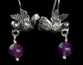 Filigree Small Flying Dove Earrings
