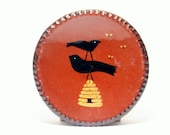 Marilyn Meyer Studio Pottery Redware - Traditional Contemporary Slipware Painted Ceramics - NJ American Art Dishes