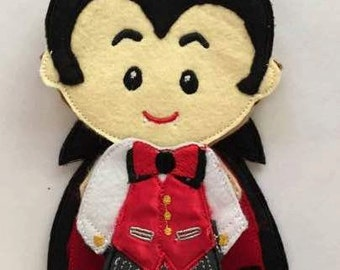 Count Dracula Non Paper Felt Outfit Only