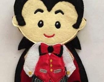 Count Dracula Non Paper Felt Doll