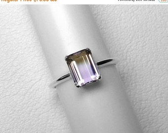 Ametrine Ring in Silver, 9x7 mm
