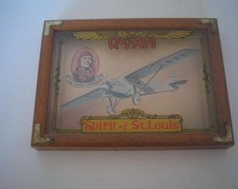 Vintage Spirit of St. Louis Plaque (name Ryan on it)