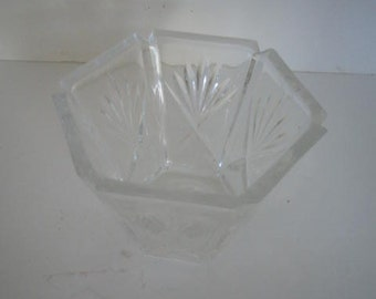 Vintage Gorham Cut Glass Candy Dish.