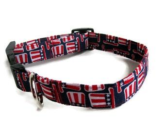 Uncle Sam Dog Collar size Large