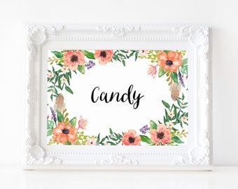 """Instant Download - Boho Candy Print - 5""""x7"""""""