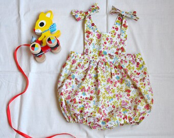 Vintage Inspired Baby Sunsuit 6mo.