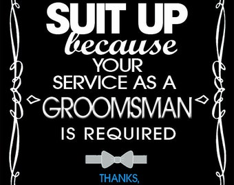 Will you be my groomsmen labels