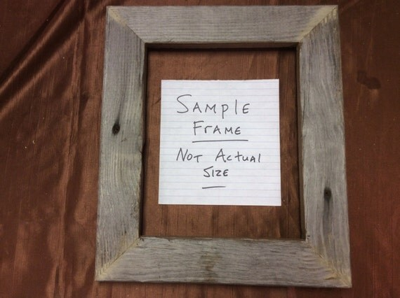 5 8x10 Flat Barn Wood Picture Frames Rustic Weathered