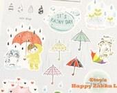 It's Rainy Day - Paper Deco Sticker - 1 Sheet - On Sale