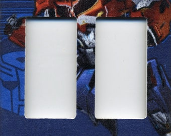 Transformer Optimus Prime Double Decora Light Switch Plate