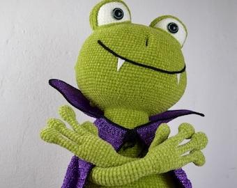 Vampire frog - amigurumi PDF crochet pattern ebook