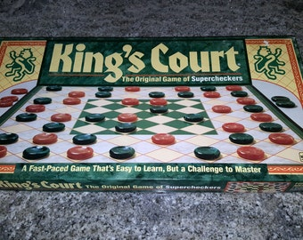 King's Court Board Game of Supercheckers, Complete vintage 1989 game by Golden