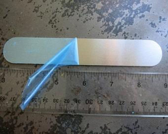 "Aluminum Bracelet Blank, 1""x6"", Metal Cuff Bracelet, 14G Aluminum Stamping Blanks, Cuff Blanks"