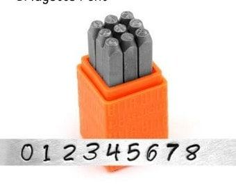 Bridgette Numbers Set, Impressart Metal Stamping Tools, 3mm Bridgette Font