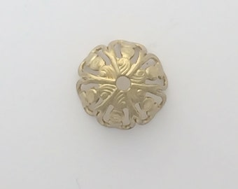 Gold plated bead cap: 2520