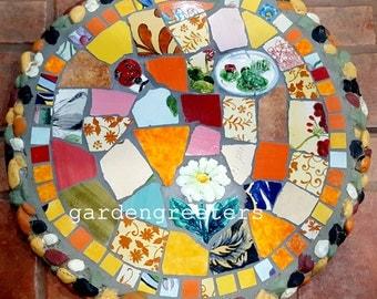 Mosaic stepping stone Mosaic wall plaque Mosaic wall decor-mbh