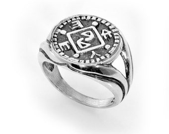 Silver Protection Amulet for removing obstructions,kabbalah,gifts,silver,asiyadesign,ethnic,man,charms,rings,jewelry