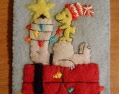 Peanuts Ornament Felt Christmas Snoopy Woodstock