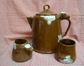 Horton Ceramics Hereford Bull Coffee pot cream sugar very rare midcentury vintage