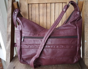 EGGPLANT    ///   Leather Hobo