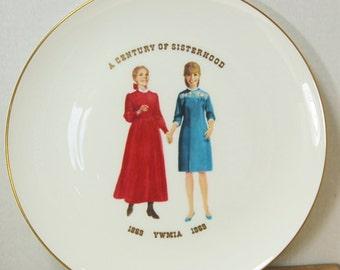 Mormon Centennial Plate YWMIA Century of Sisterhood LDS