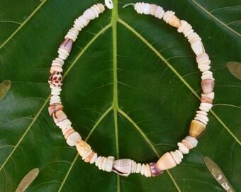 Hawaiian Puka Shell Necklace-Large Rare Cone and Puka Shells Endemic  Kauai Made Hawaiian Style Gathered Eco Freindly Endangered reef Gems