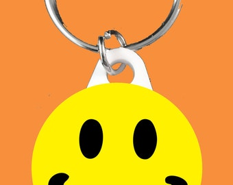 Yellow Smiley Face Keyring