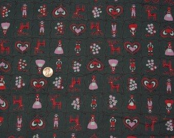 Pennsylvania Dutch Cotton 1950's Print Fabric