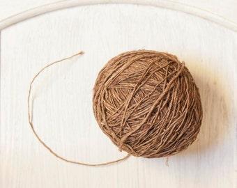 Hemp Yarn in Dark Brown